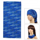 Multifunction Outdoor Sports Bicycle Cycling Seamless Head Scarf - Deep Blue