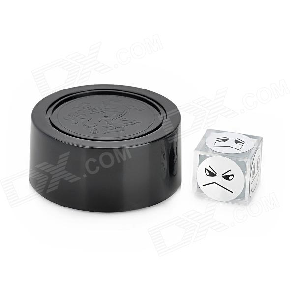 Magical Perspective Expression Dice Magic Prop - Black + White