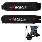 ACACIA Elastic Velcro Bicycle Cycling Pedal Straps - Black (Pair)