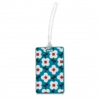 Plum Pattern Silicone Secure Travel Suitcase ID Luggage Tag - Multicolored