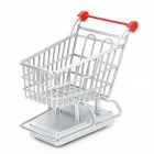 27MHz 2-CH Electric R/C Shopping Cart Toy w/ Remote Control - Silver + Red