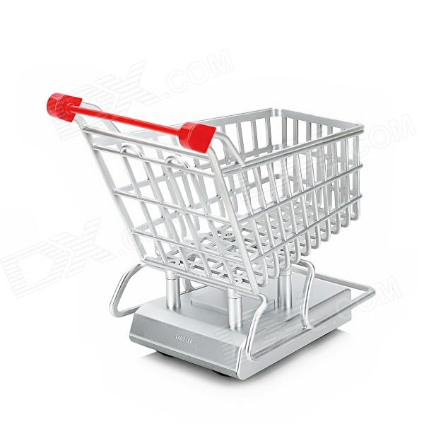 27mhz 2 Ch Electric R C Shopping Cart Toy W Remote Control Silver Red Free Shipping