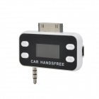 """1.0"""" LCD Display FM Transmitter w/ Built-in Apple 30pin Connector + USB Car Charger for iPhone 4S"""