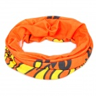 AoTu Multifunction Outdoor Sports Bicycle Cycling Seamless Head Scarf - Orange + Yellow + Black