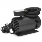 Portable Mini Auto Electric Air Compressor w/ Car Charger - Black (300PSI / DC 12V)