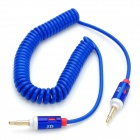 3.5mm Male to Male Extension Flexible Audio Cable - Blue + White (197CM)