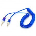 3.5mm macho a macho Cable de extensión de audio flexible - Blue + White (197cm)