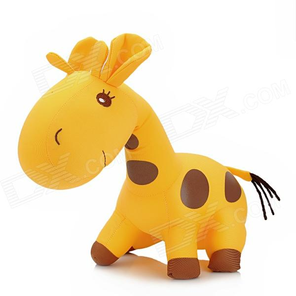 cute-giraffe-style-foam-particles-filler-doll-toy-yellow