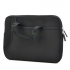 "Protective Soft Diving Cloth Inner Bag w/ Carring Handle for Ipad 1 / 2 / 3 + 9.7"" Tablet PC - Black"