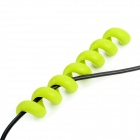 CC-596 Silicone Spiral Spring Cable Tie Wrap Management - Green (2 PCS)