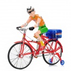Plastic Electric Bicycle / Bike w/ Light / Music + Male Racer Model Toy for Kid - Multicolored