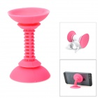Dual-Head Silicone Suction Cup Stand for Iphone / Ipad - Deep Pink