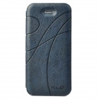 KALAIDENG Stylish Ribbon Pattern Protective PU Leather Case for Iphone 5 - Sapphire Blue