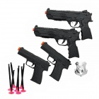 85-01 Plastic BB Guns Toy + Soft Bullets + Target Board Set for Kids / Children - Black