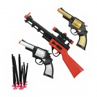 328 Plastic BB Guns Toy + Soft Bullets + Target Board Set for Kids / Children - Multicolored