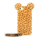 Stylish Leopard Ears + Fox Tail Style Protective Back Case for Iphone 5 - Brown + Black