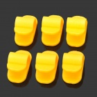CC905 PVC Cord Clip Cable Management w/ Self-Adhesive Tape - Yellow (6 PCS)