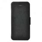 NILLKIN Fresh Stylish Protective  PC Back Case w/ PU Leather Cover for Iphone 5 - Black