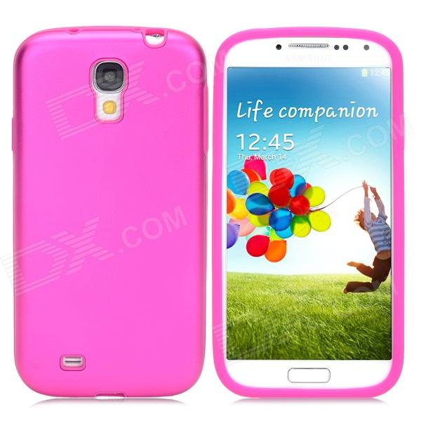 Protective Aluminum Alloy + Silicone Back Case for Samsung Galaxy S4/I9500 - Deep Pink от DX.com INT