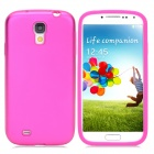 Protective Aluminum Alloy + Silicone Back Case for Samsung Galaxy S4/I9500 - Deep Pink