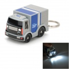 Cute Little Truck Style Keychain Adornment w/ LED Light & Truck Sound - Gray + Blue (3 x AG10)