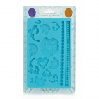 Stylish 3D Rose Style Silicone Cake Embossing Mold - Blue