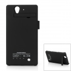 Rechargeable 2800mAh External Battery Power Case for Sony L36h - Black