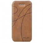 KALAIDENG Stylish Ribbon Pattern Protective PU Leather Case for Iphone 5 - Coffee