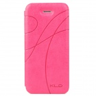 KALAIDENG Stylish Ribbon Pattern Protective PU Leather Case for Iphone 5 - Rosy