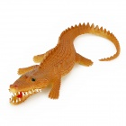 Crocodile Style Long Mouth Silicone Toy - Khaki + Yellow