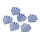 Professional PET Dart Tail Wings Set - Blue + White (6 PCS)