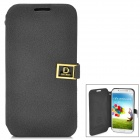Protective PU Leather Case for Samsung GALAXY S4 / i9500 - Black