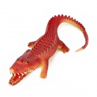 Crocodile Style Long Mouth Silicone Toy - Maroon + Yellow