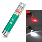 HHL-02-QINGSE LED Keychain w / 5mW 650nm Red Laser - Verde