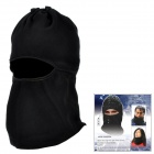 Polar Fleece Ski Cycling Riding Full Face Mask - Black