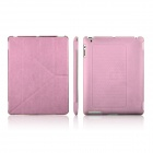 ENKAY ENK-3129 Protective PU + PC Foldable Case for Ipad 2 / 3 / 4 - Pink