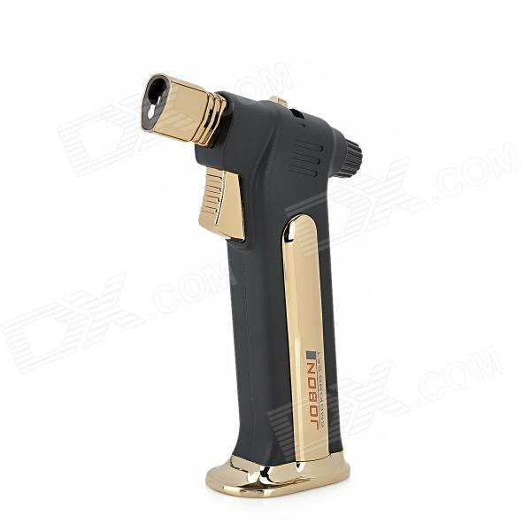 Jobon Windproof 1300'C Butane Gas Jet Stand Lighter for Cigar - Golden + Black
