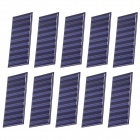 ST-38X86 4.5V 55mA Solar Panels Charging for 3.6V Battery - Blue + Black + Green (10 PCS)