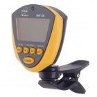 "ENO EMT-330 1.7"" LCD Clip-On Tuner for Guitar / Bass / Violin / Ukulele / Chromatic - Yellow + Black"
