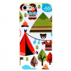 Lofter ASE2883 Cartoon Patterns Protective TPU Back Case for Iphone 5 - Multicolor