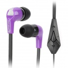 OVLENG i760 Fashion In-ear Style Earphone w/ Microphone - Purple + Black