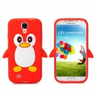 Protective Penguin Style Silicone Back Case for Samsung Galaxy S4 - Red + White + Yellow + Black