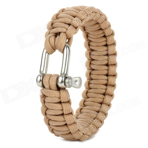 Military Survival Paracord Bracelet - Earthy