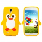 Protective Penguin Style Silicone Back Case for Samsung Galaxy S4 - Yellow + White + Red + Black