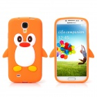 Protective Penguin Style Silicone Back Case for Samsung Galaxy S4 - Orange + White + Red + Black