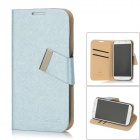 MAGE Protective PU Leather Case for Light Blue