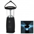 Hand-cranking 6-LED 120lm Solar Powered Camping Lamp - Black