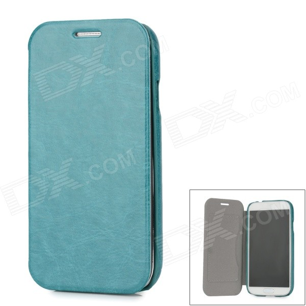 Protective PU Leather Flip Open Case w/ Card Slot for Samsung i9500 - Green protective flip open style pu leather case for samsung i9500 w card slot pink