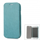 Protective PU Leather Flip Open Case w/ Card Slot for Samsung i9500 - Green