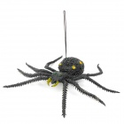 Lifelike Silicone Spider Toy -  Yellow + Black
